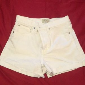 J. Crew white denim shorts 25